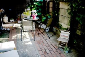 オープンカフェ風ベンチ